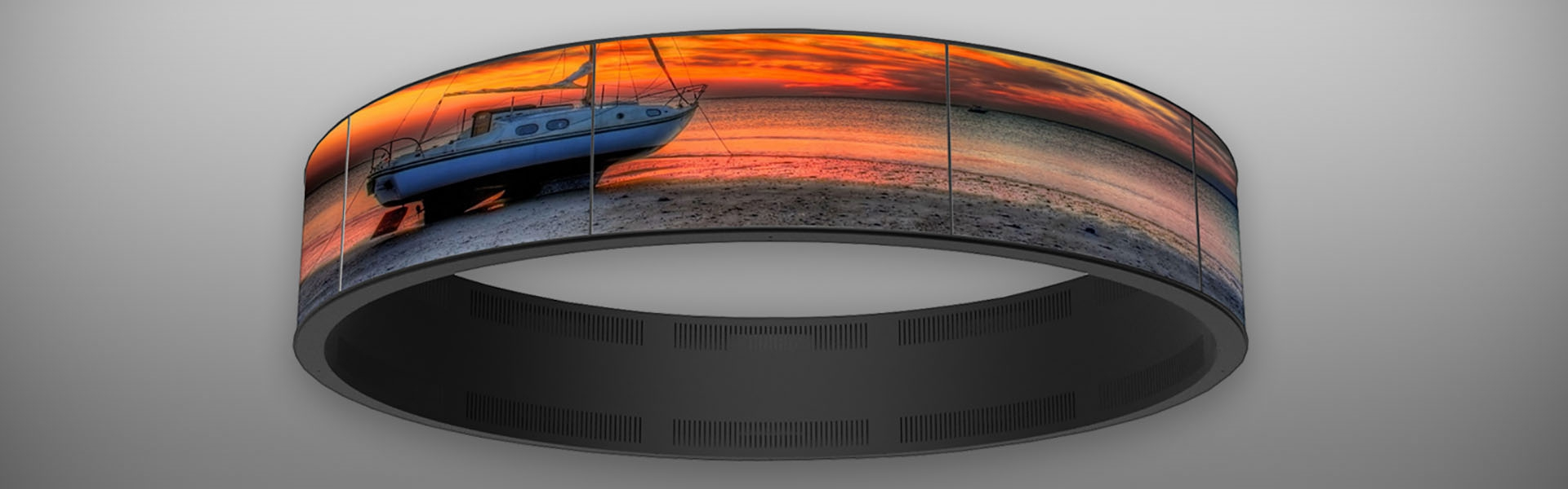 CUSTOM DESIGNED AND MANUFACTURED RING-SHAPED VIDEO WALL
